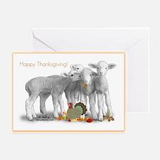 Thanksgiving Lambs Greeting Cards