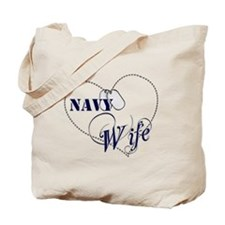 Navy Wife for dark backgrounds Tote Bag