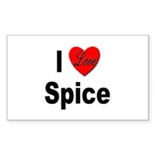 I Love Spice Rectangle Decal