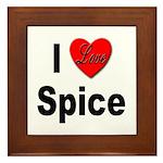 I Love Spice Framed Tile