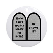 Moses Beer Pun Ornament (Round)