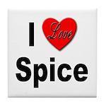 I Love Spice Tile Coaster