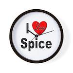 I Love Spice Wall Clock