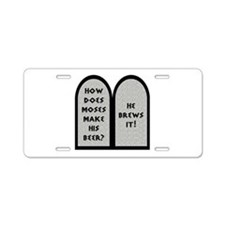 Moses Beer Pun Aluminum License Plate