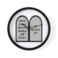Moses Beer Pun Wall Clock