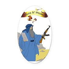 Guns N Moses Oval Car Magnet