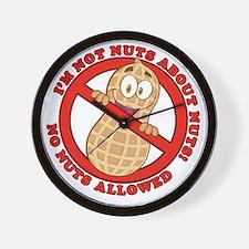 No Nuts Allowed Wall Clock