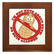No Nuts Allowed Framed Tile