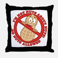 No Nuts Allowed Throw Pillow