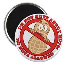 No Nuts Allowed Magnet