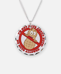 No Nuts Allowed Necklace Circle Charm
