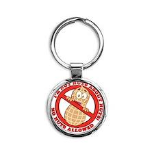 No Nuts Allowed Round Keychain