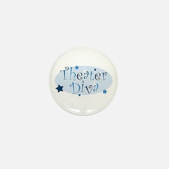 """""""Theater Diva"""" [blue] Mini Button"""