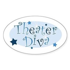 """Theater Diva"" [blue] Oval Decal"