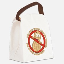 No Nuts Allowed (Light) Canvas Lunch Bag