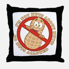 No Nuts Allowed (Light) Throw Pillow