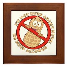No Nuts Allowed (Light) Framed Tile
