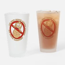 No Nuts Allowed (Light) Drinking Glass