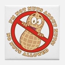 No Nuts Allowed (Light) Tile Coaster