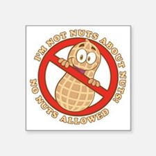 "No Nuts Allowed (Light) Square Sticker 3"" x 3"""