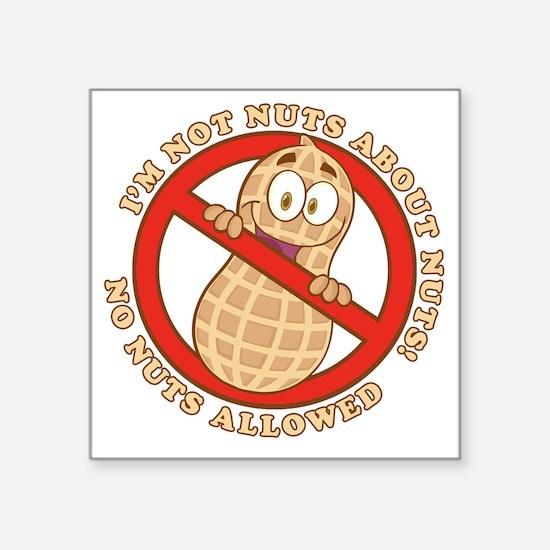 "No Nuts Allowed (Light) Square Sticker 3"" x 3"""