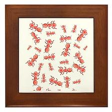 Brain Ants Framed Tile