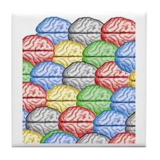 Colorful Brains Tile Coaster