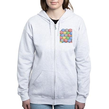 Colorful Brains Women's Zip Hoodie