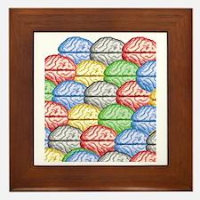 Colorful Brains Framed Tile