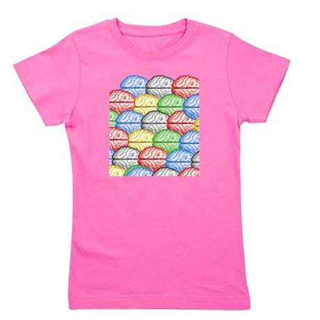 Colorful Brains Girl's Tee