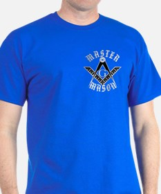 The Master Mason in white letters T-Shirt