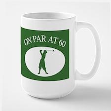 Golfer's 60th Birthday Large Mug