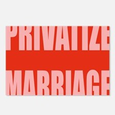 privatize marriage Postcards (Package of 8)