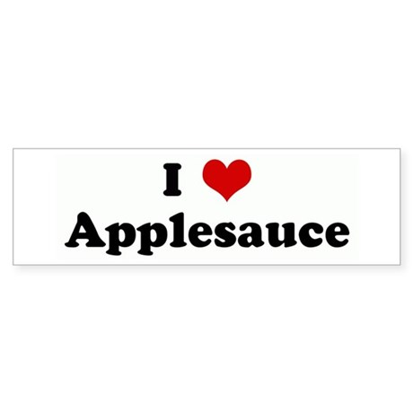 I Love Applesauce Bumper Sticker