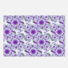 Abstract Purple and White Postcards (Package of 8)