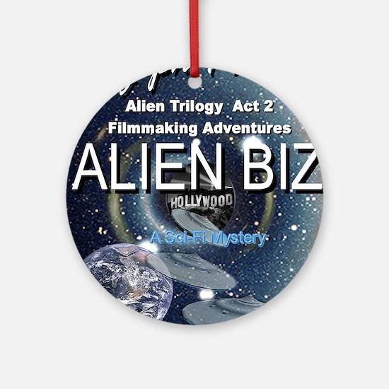 Alien Biz Round Ornament