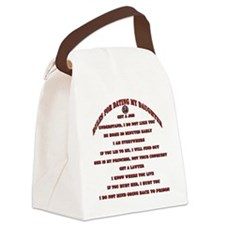 Rules for Dating My Daughter Canvas Lunch Bag