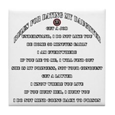 Dads Against Daughters Dating Rules Tile Coaster