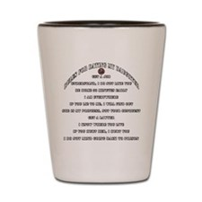 Dads Against Daughters Dating Rules Shot Glass