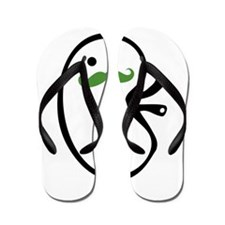 Kidney Mustache Flip Flops