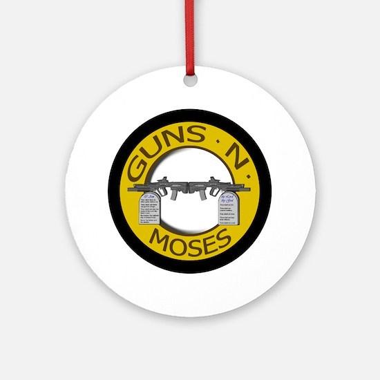 Guns N Moses Round Ornament