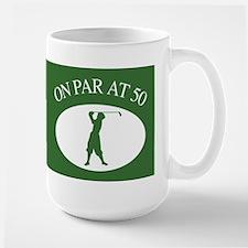 Golfer's 50th Birthday Large Mug
