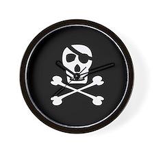 Pirate Symbol Wall Clock