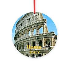 Rome_5X7_Card_v2_Colosseum Round Ornament