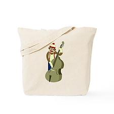 Sock Monkey Upright Bass Player Tote Bag