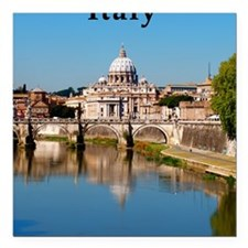 "Italy_5.5x8.5_Journal_Va Square Car Magnet 3"" x 3"""