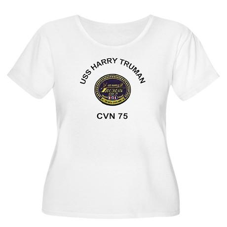 CVN 75 Women's Plus Size Scoop Neck T-Shirt