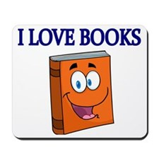 I LOVE BOOKS Mousepad