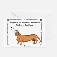Old dog Love Greeting Card