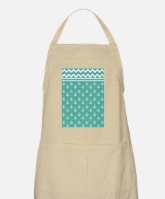 Anchors Chevrons D60x84 W Med Teal Apron